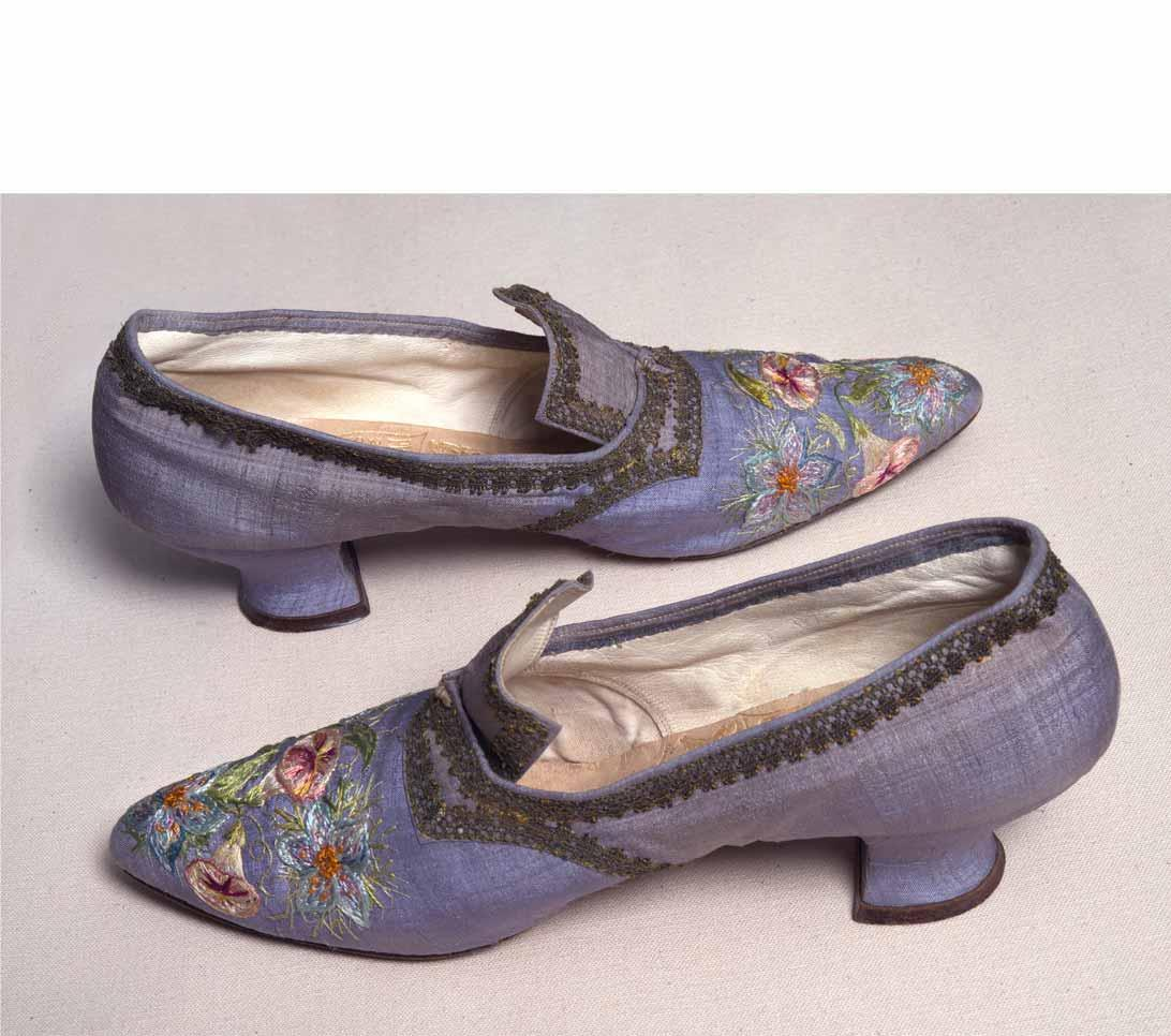 Embroidered Shoes by Marie Spartali Stillman.