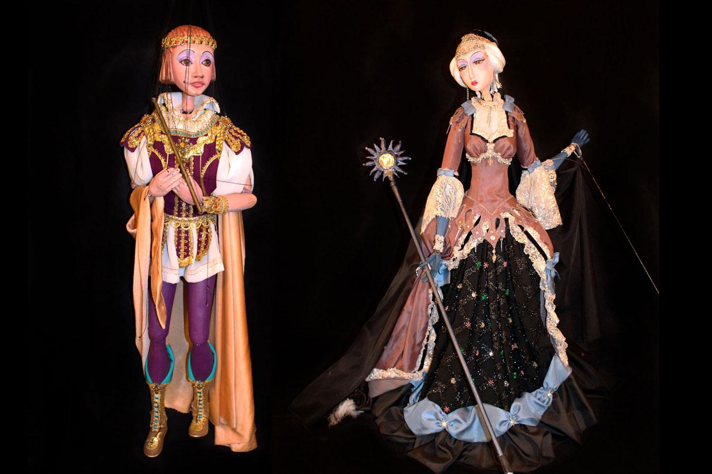 "Prince Tomino  and Queen of the Night on a Cloud from ""The Magic Flute,"""