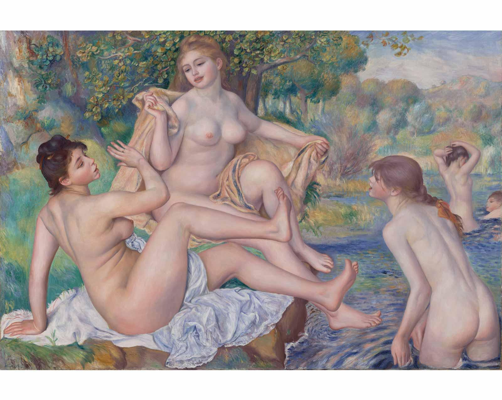 The Great Bathers, 1884-1887, Pierre-Auguste Renoir.