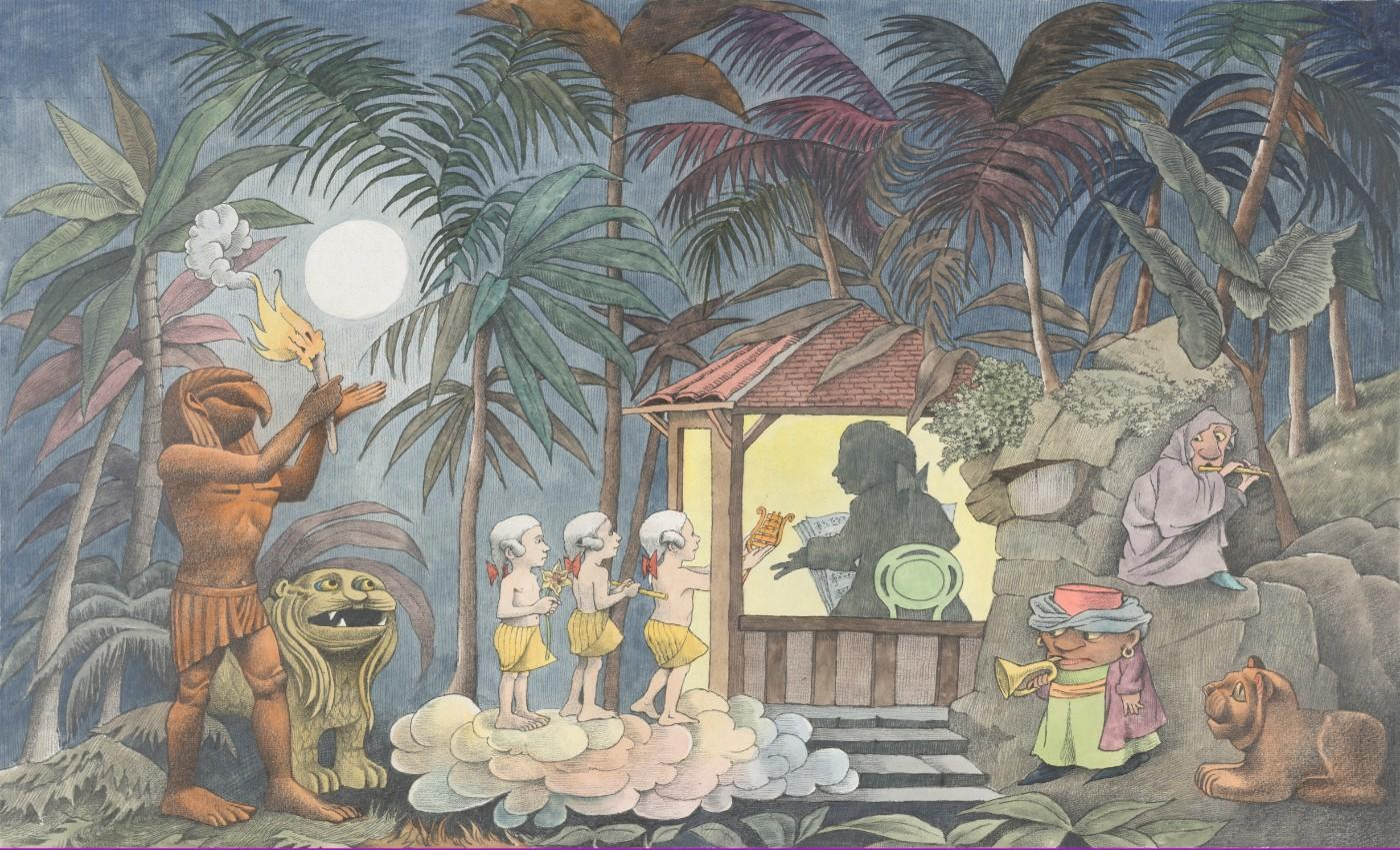 Maurice Sendak (1928-2012), Design for show scrim (The Magic Flute), 1979-1980