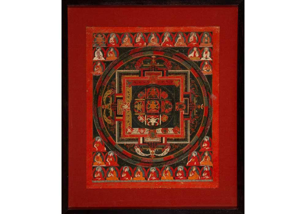 A Tibetan Mandala Thangka with Abbot Lineage, 18th century