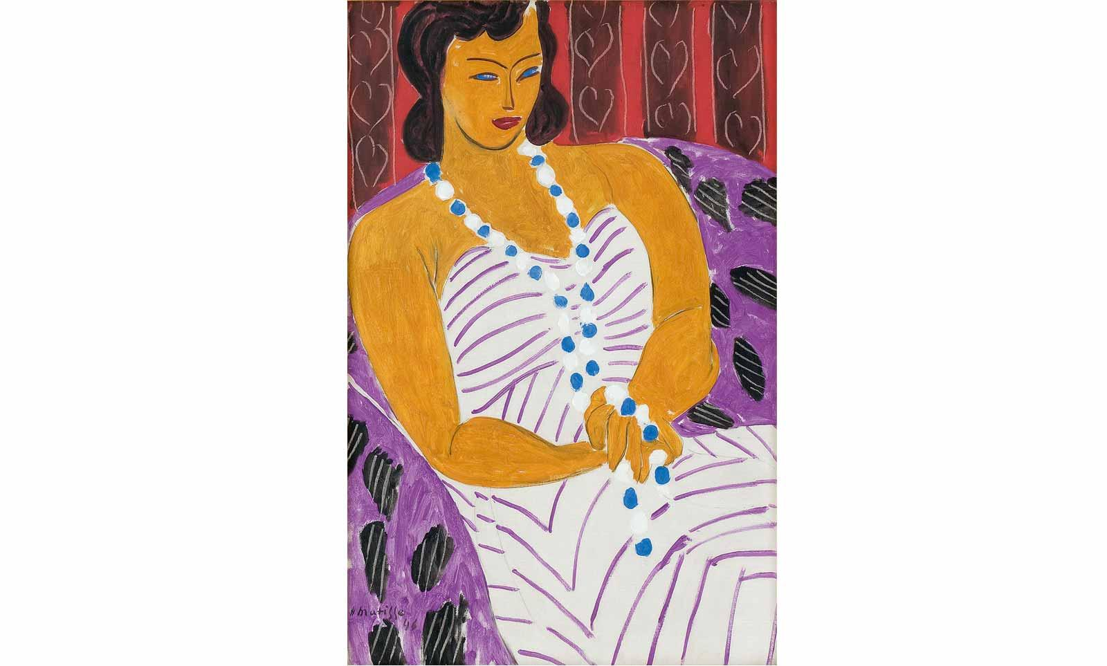 Henri Matisse (1869-1954), Lady with white dress (woman in white), 1946