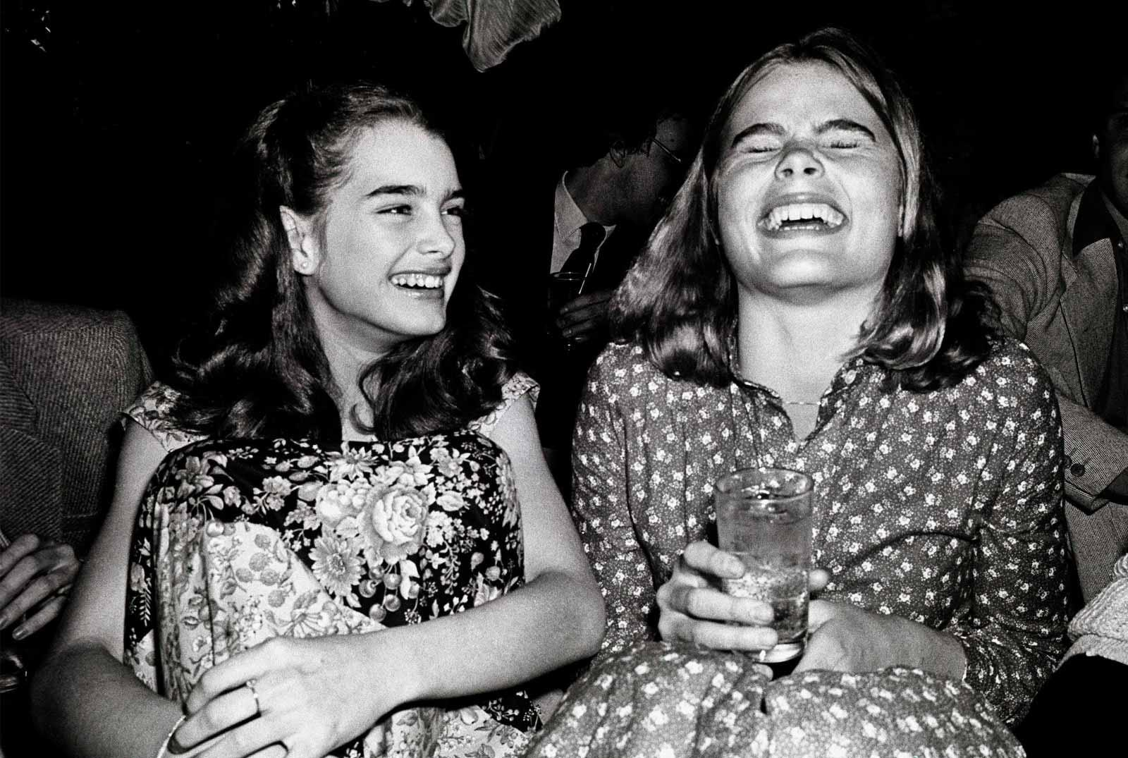 Brooke Shields and Mariel Hemingway, 1977.