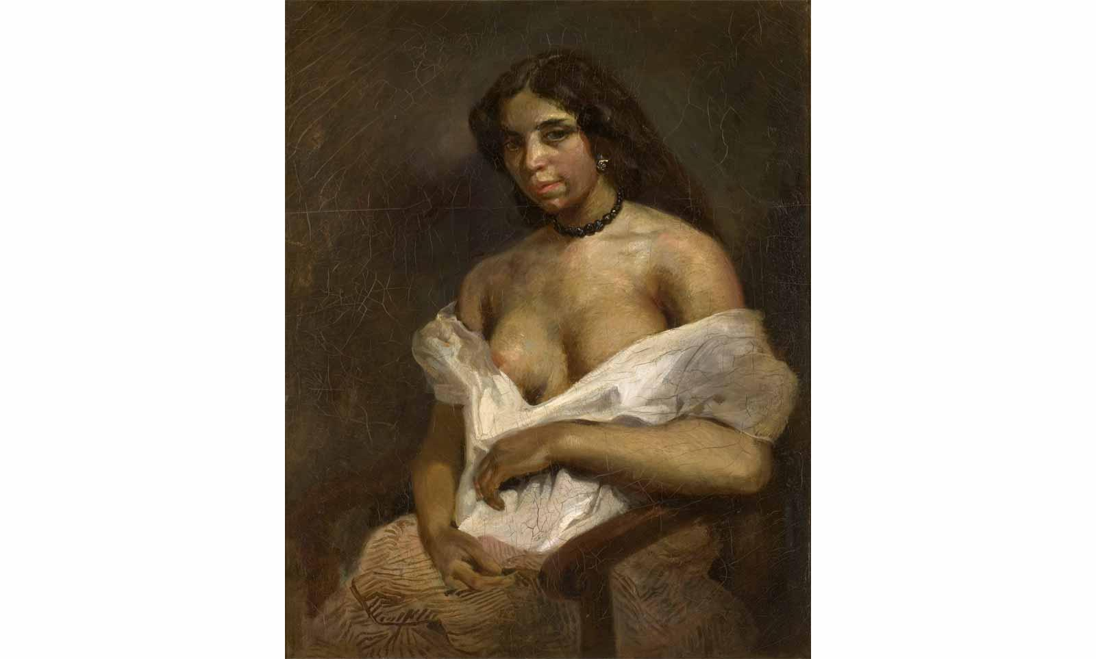 Eugene Delacroix (1798-1863), Study after the model Aspasie, circa 1824-1826