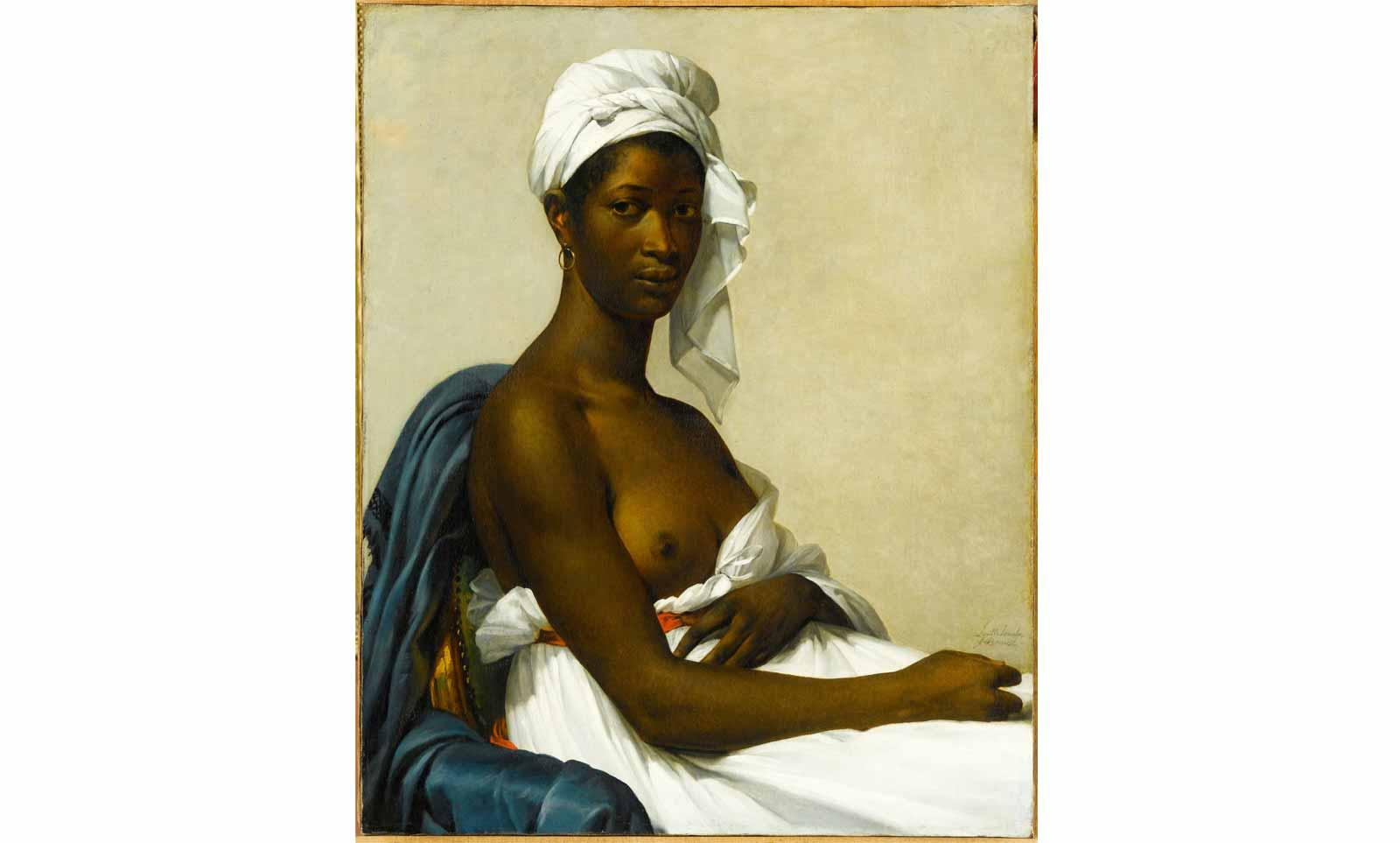 Marie Guillemine Benoist (1768-1826), Portrait of Madeleine, 1800. Also called Portrait of a black woman, presented at the Salon of 1800 under the title Portrait of a Negress