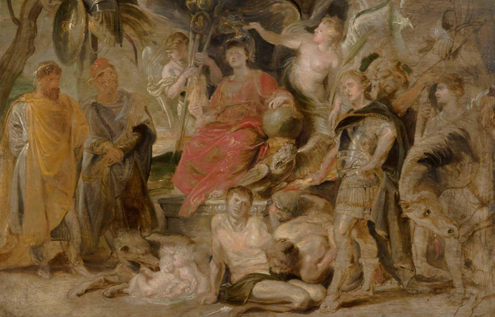 The Triumph of Rome: The Youthful Emperor Constantine Honoring Rome, ca. 1622–23, Peter Paul Rubens.