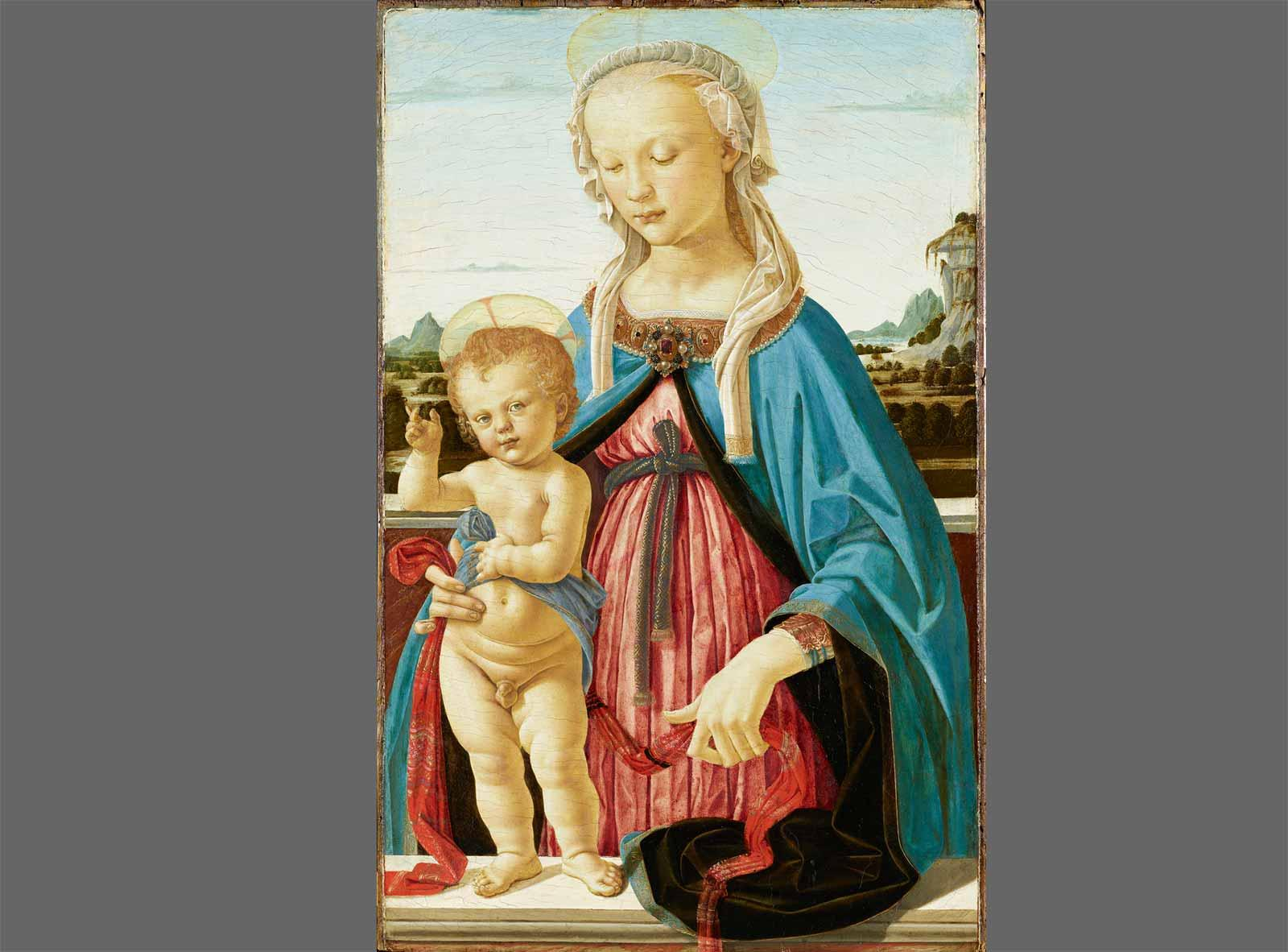 Andrea del Verrocchio Madonna and Child.