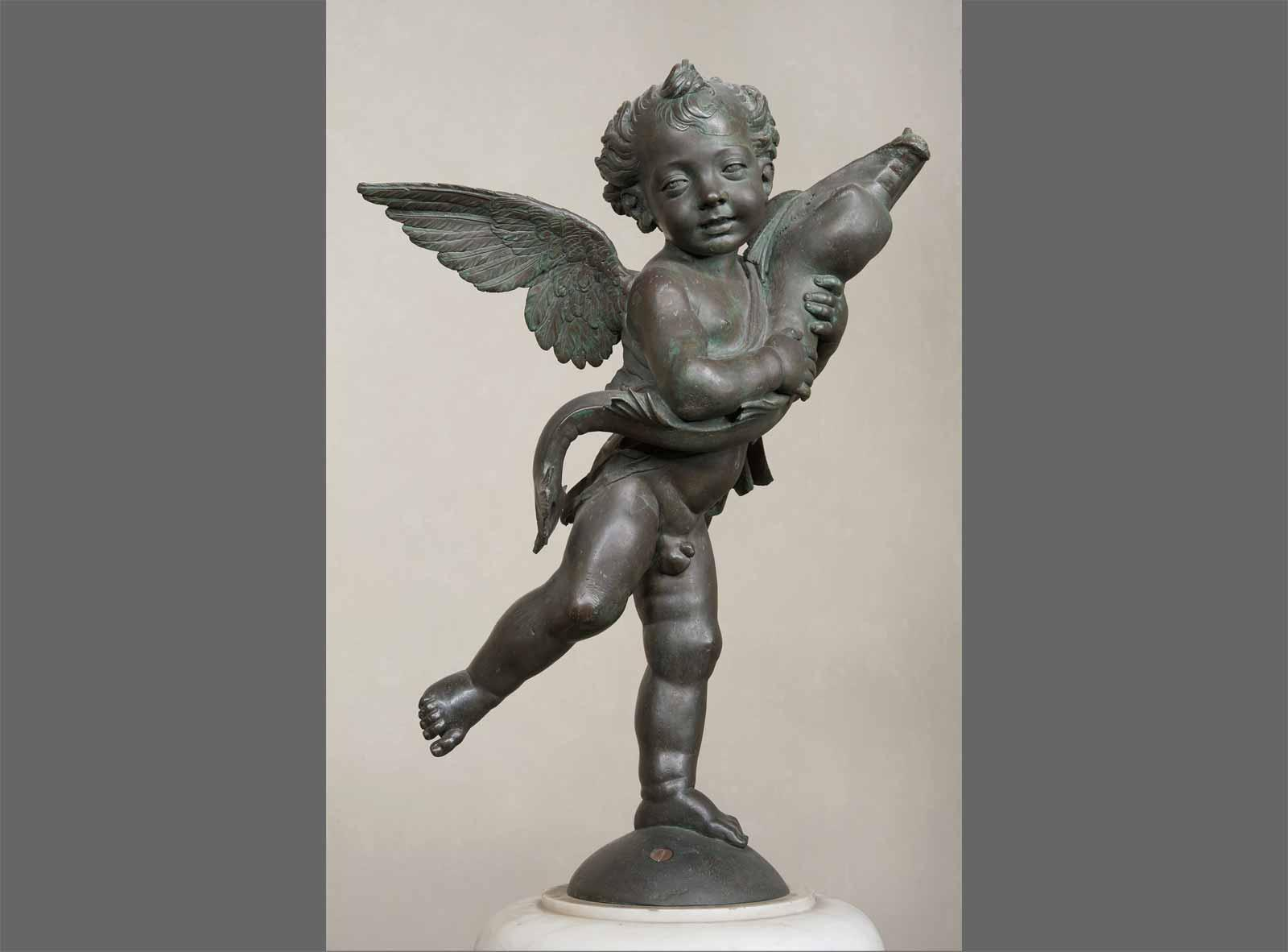 Andrea del Verrocchio Winged Boy with Dolphin.