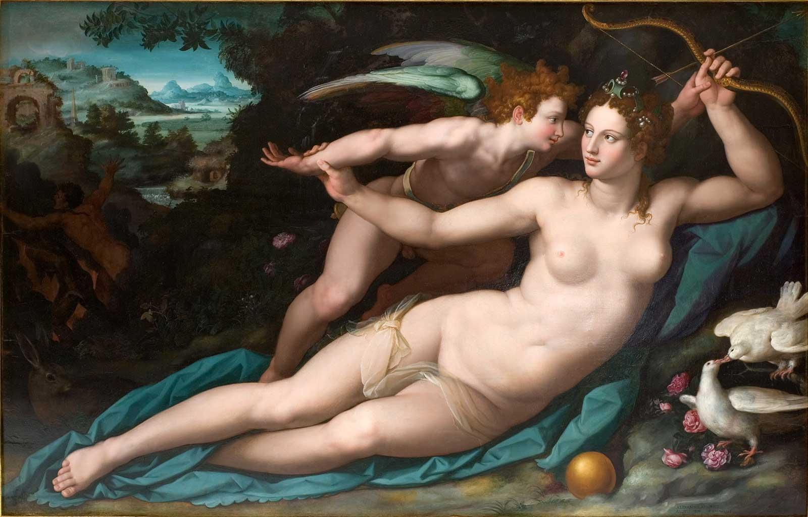 Venus and Amor, 1570s, Alessandro Allori.