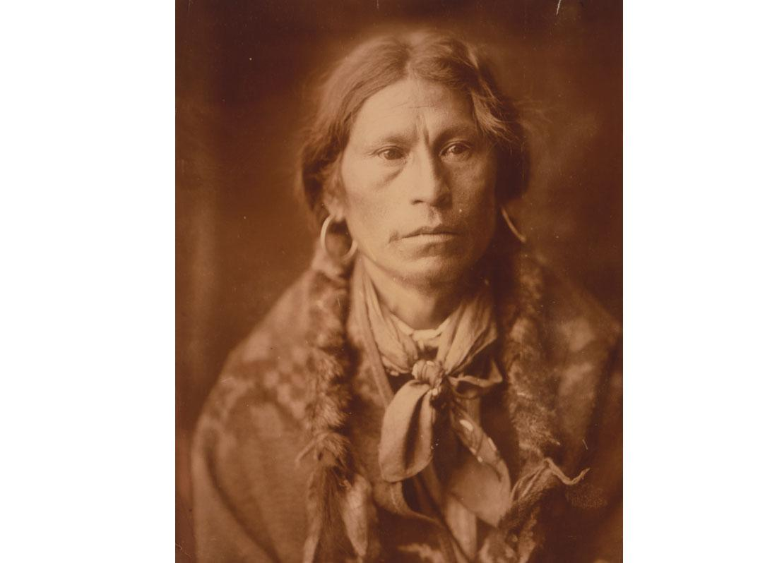Head-and-shoulders portrait of Jicarilla man, 1905.