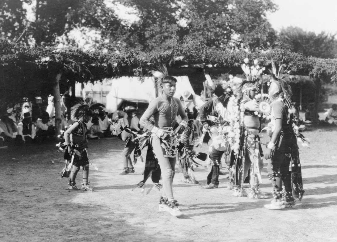 Skidi and Wichita dancers, 1927.