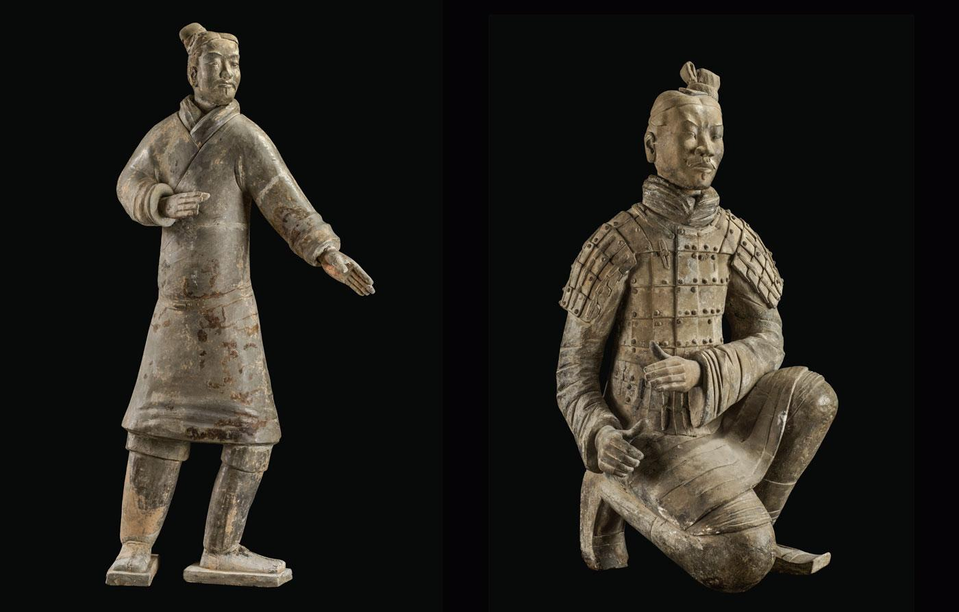 Standing Archer and Kneeling Archer