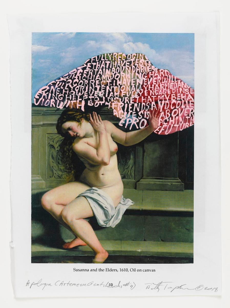 "Betty Tompkins, ""Apologia (Artemesia Gentileschi #4)"""