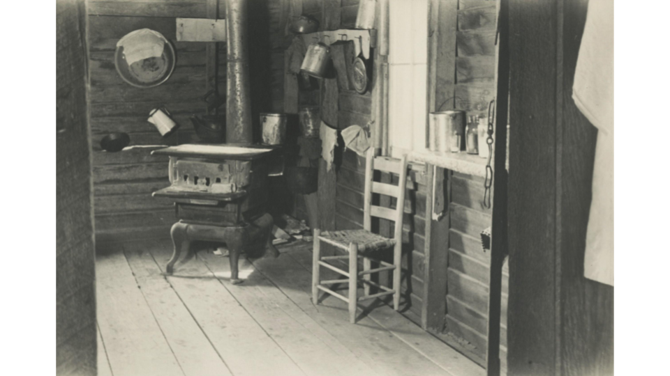 Walker Evans, Kitchen in Floyd Burroughs's Home, Hale County, Alabama, 1936