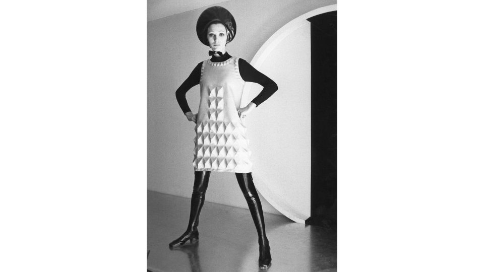 "Pierre Cardin ""Cardine"" dress, 1968."