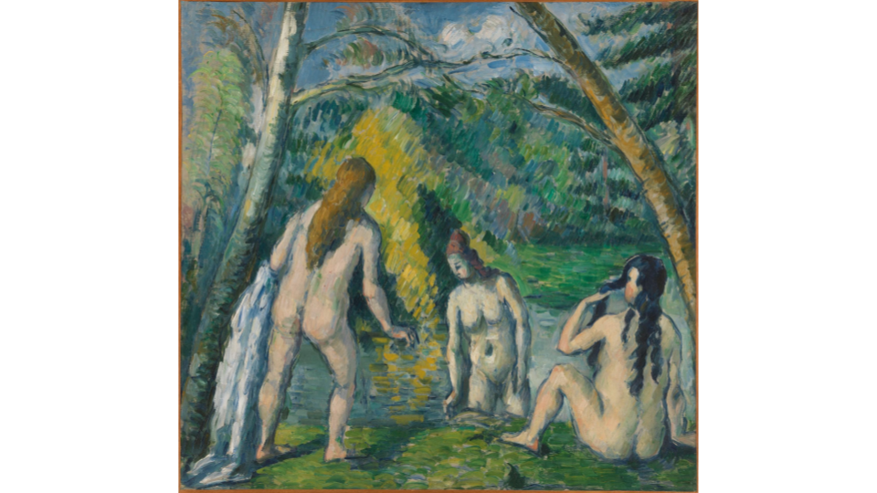 Paul Cezanne, Three bathers, between 1879 and 1882. Petit Palais, Museum of Fine Arts of the City of Paris.