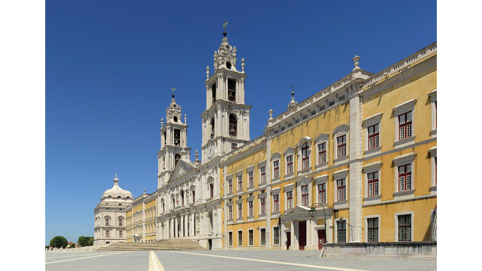 Main facade of Mafra National Palace, Portugal