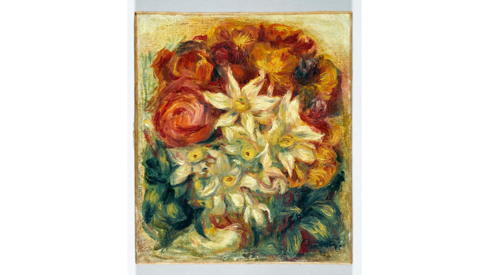 Auguste Renoir, Bouquet of daffodils and roses, c. 1914. Petit Palais, Museum of Fine Arts of the City of Paris.