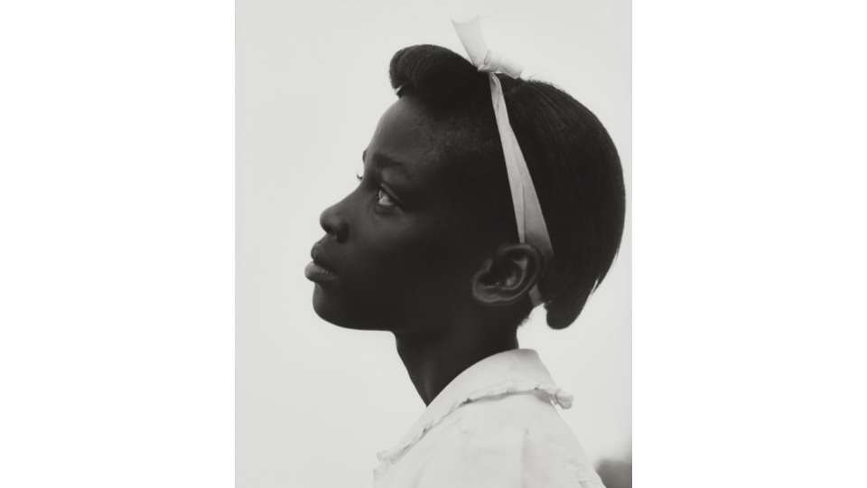 Consuelo Kanaga Profile of a Young Girl from the Tennessee series, 1948
