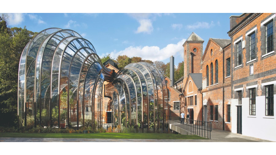 Bombay Sapphire Distillery, Heatherwick Studio; transformed 2014.