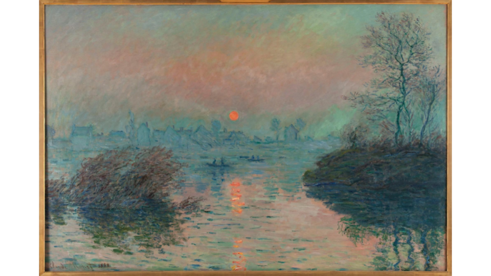Claude Monet, Setting sun on the Seine at Lavacourt, winter effect, 1880. Petit Palais, Museum of Fine Arts of the City of Paris.
