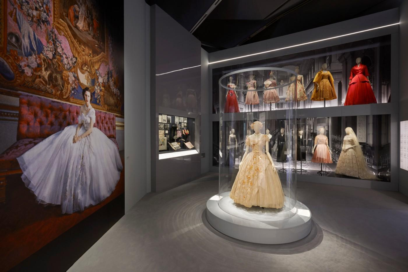 The V&A's Christian Dior Designer of Dreams exhibition, Dior in Britain section