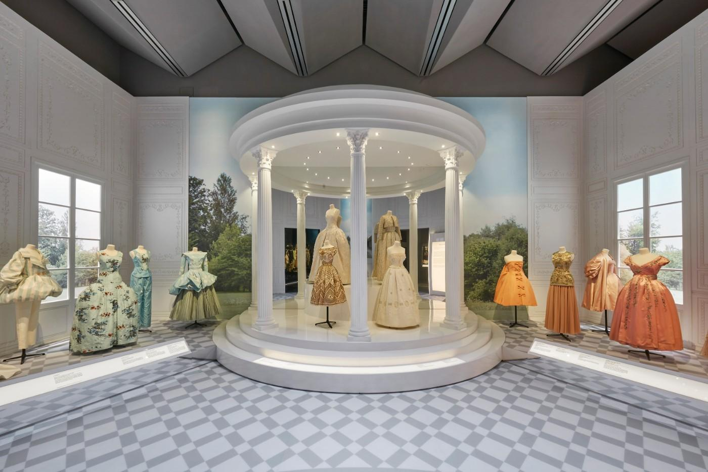 The V&A's Christian Dior Designer of Dreams exhibition, Historicism section