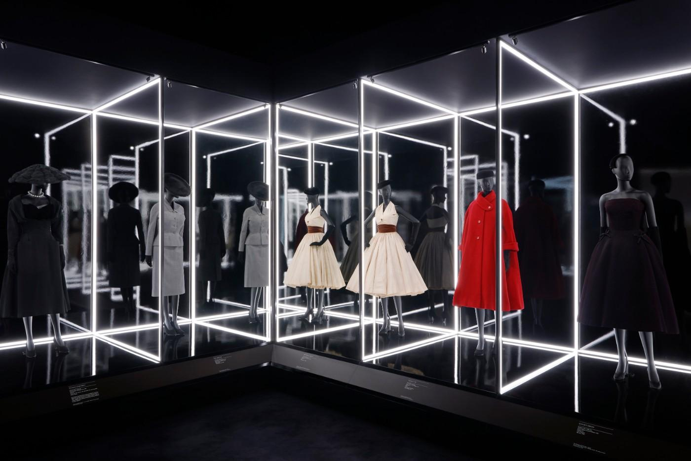 The V&A's Christian Dior Designer of Dreams exhibition, The Dior Line section