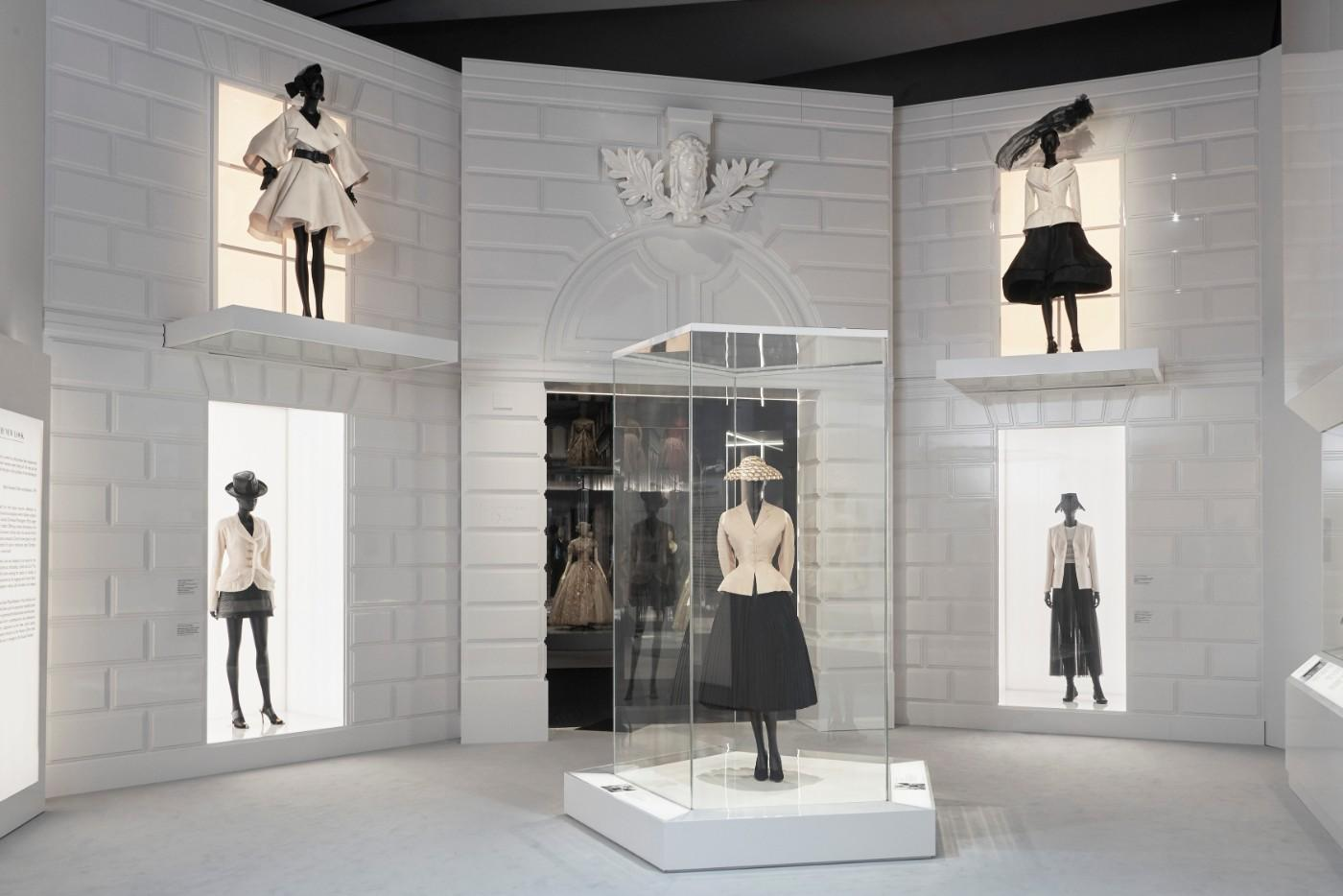 The V&A's Christian Dior Designer of Dreams exhibition, The New Look section