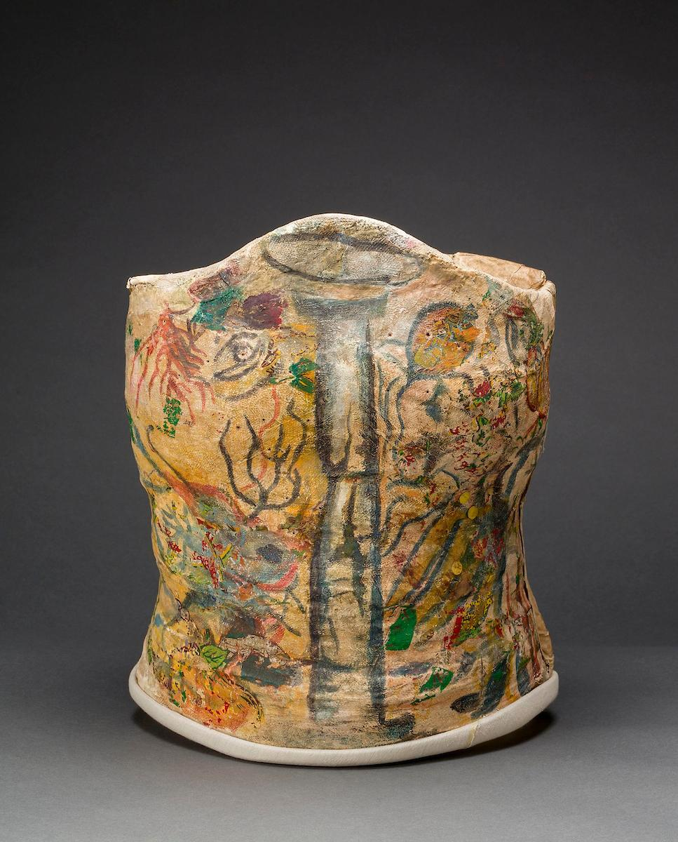 Plaster corset, painted and decorated by Frida Kahlo