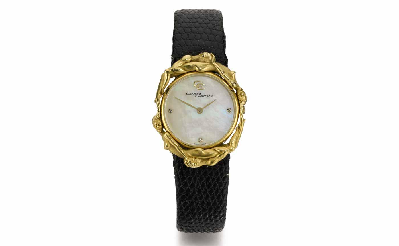 Ladies Mother of Pearl Wristwatch, Carrera y Carrera