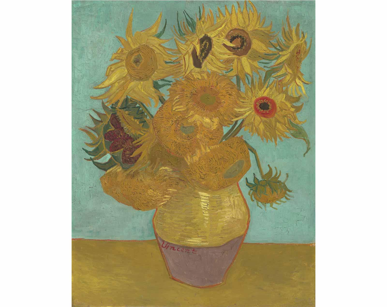 Sunflowers, 1889, by Vincent Willem van Gogh