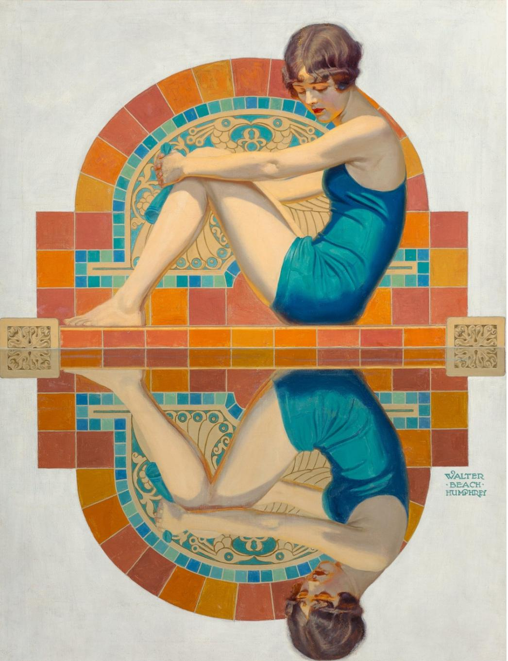Walter Beach Humphrey Reflection, Collier's magazine cover, June 15, 1929