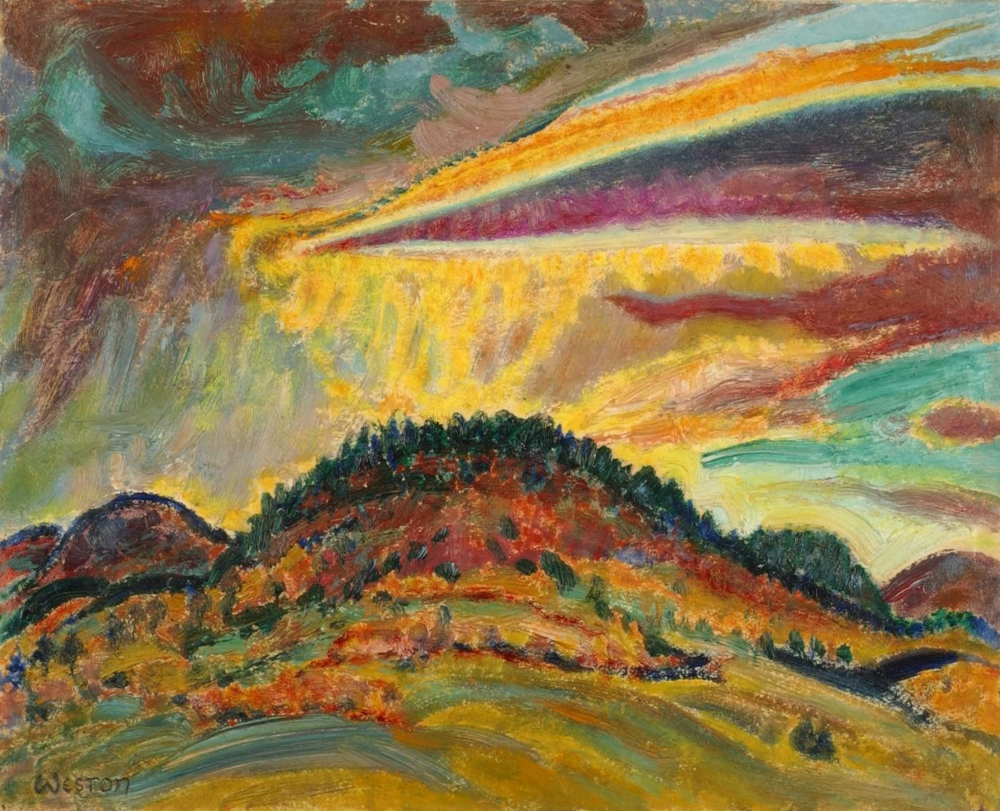 Harold Weston, Sunset Over Baxter Mountain, 1920