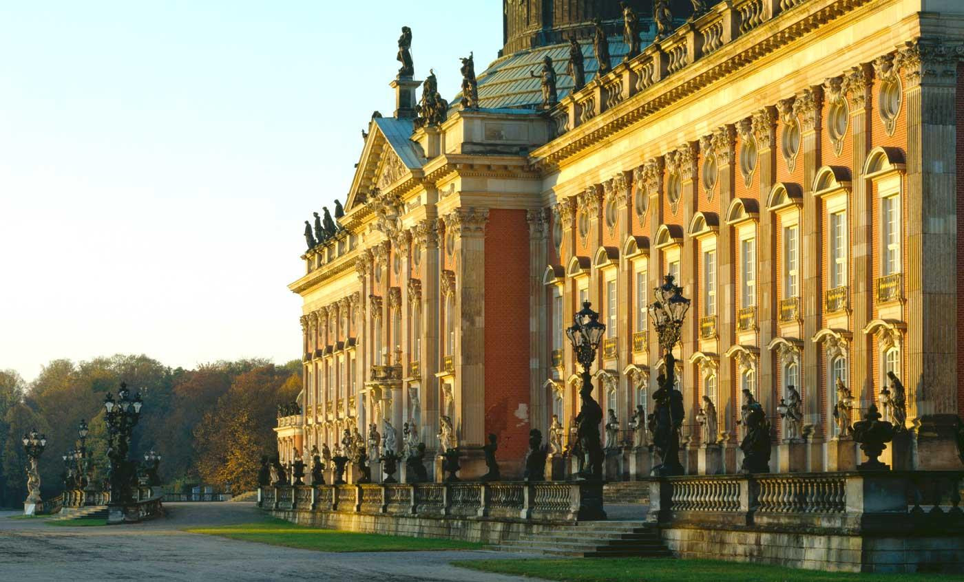 The exterior of the Neues Palais in Potsdam.