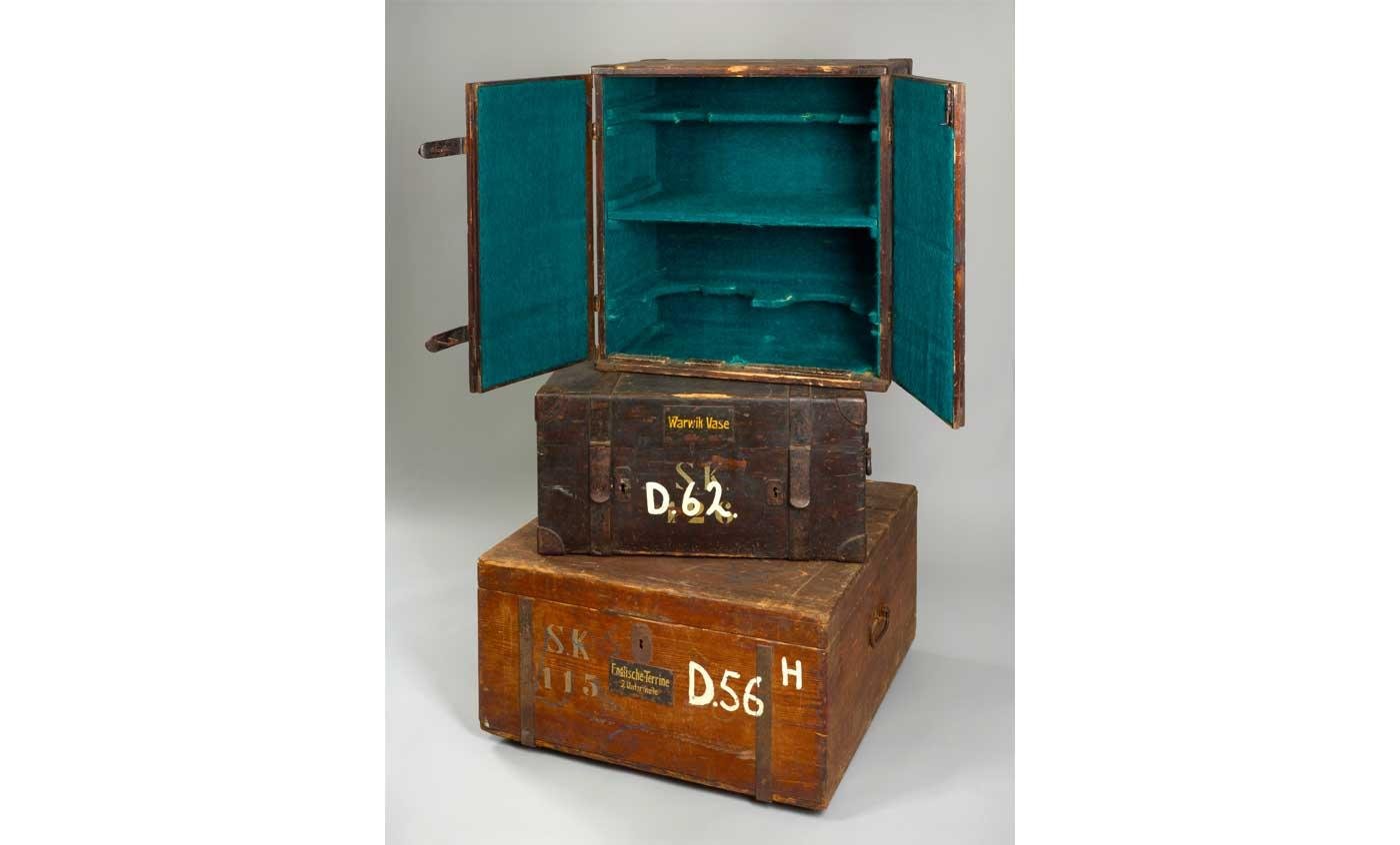 Packing cases dating from 1918 at the Neues Palais, Potsdam, Germany.