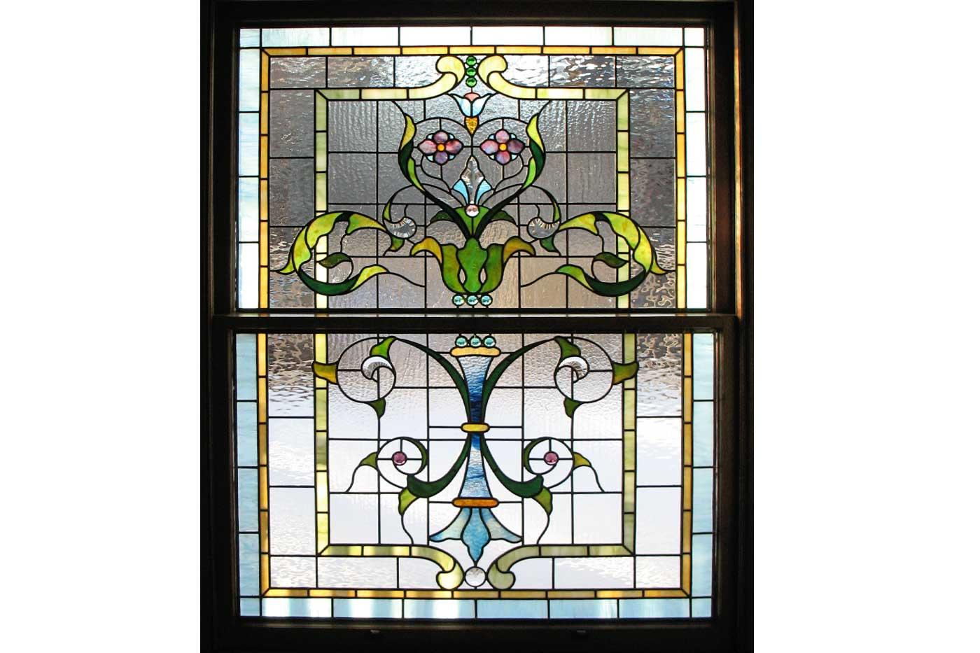 Ann Wolff's custom stained glass work makes a beautiful home accent.