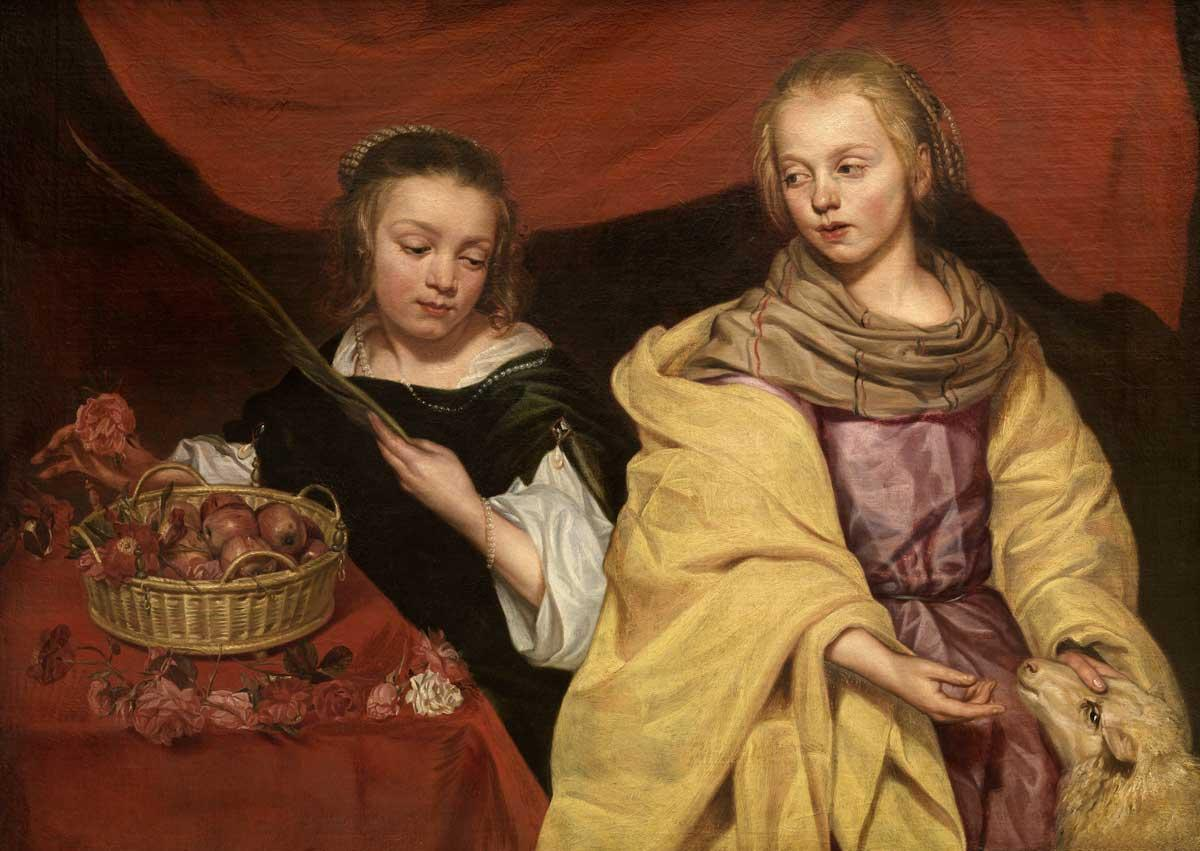 Portrait of Two Girls as the Saints Agnes and Dorothy.
