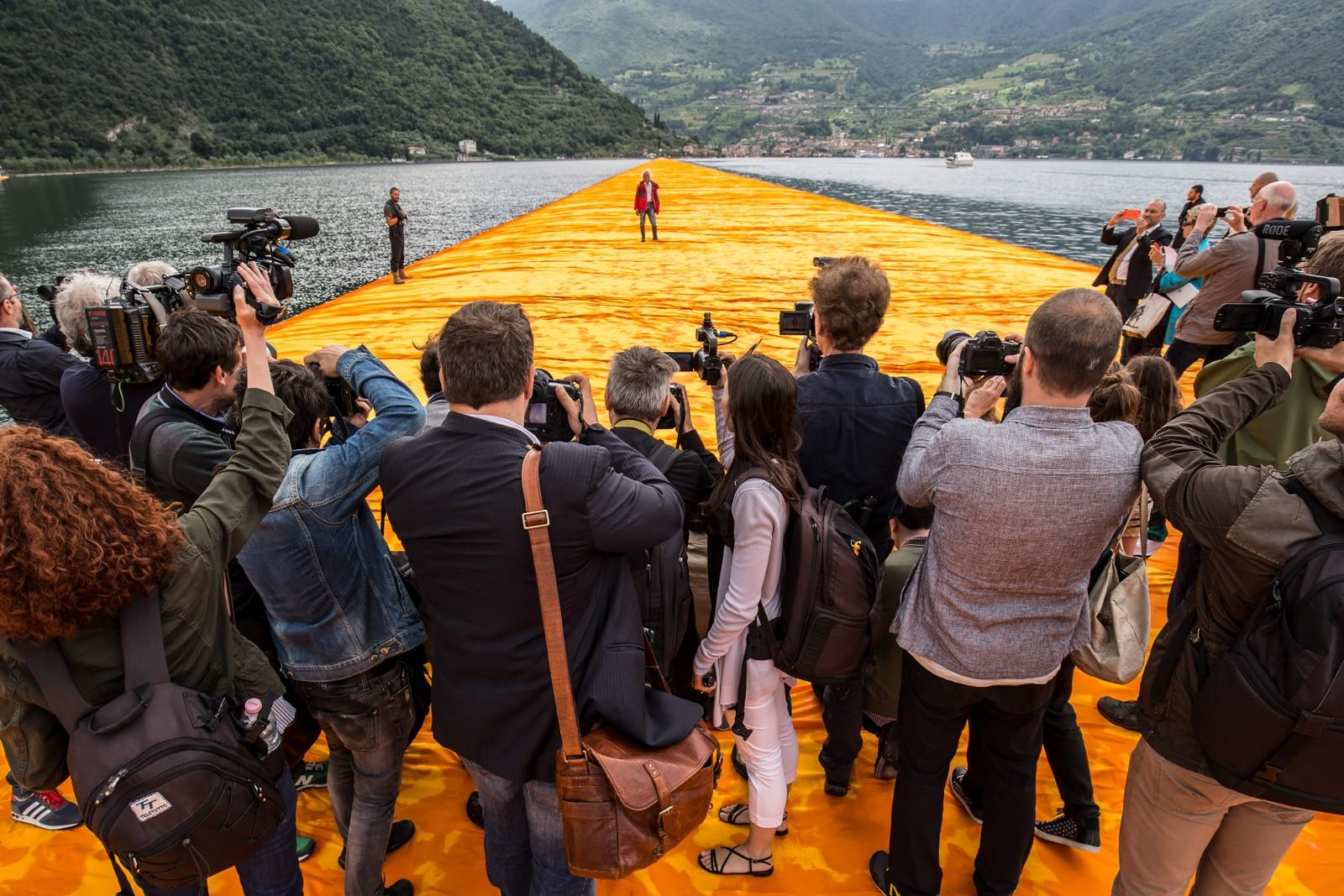 Christo in a scene from Walking on Water