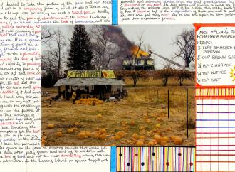 Nigel Poor and Frankie Smith. Mapping Joel Sternfeld, side B, 2011/12. Inkjet print, with ink notations. Courtesy Nigel Poor, with thanks to the Prison University Project.