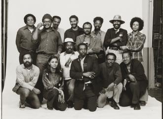 Anthony Barboza photograph of a group of people
