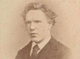 a photo in sepia tone of van gogh at 19 years old. described in more detail within the story.