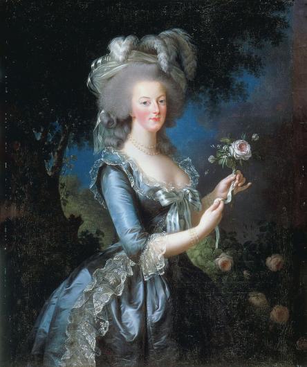 Élisabeth Louise Vigée Le Brun, Marie Antoinette with a Rose , 1783
