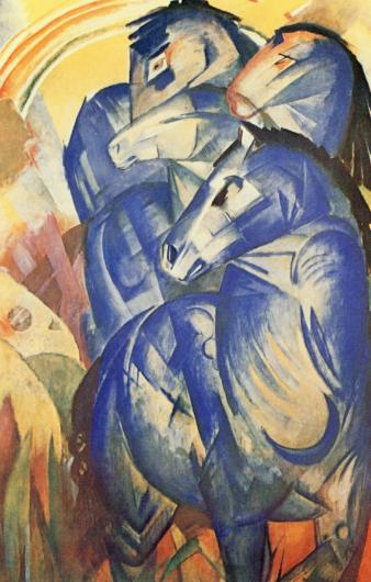 Franz Marc, The Tower of Blue Horses, 1913.