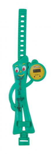 Gumby Quartz LCD watch signed by Andy Warhol