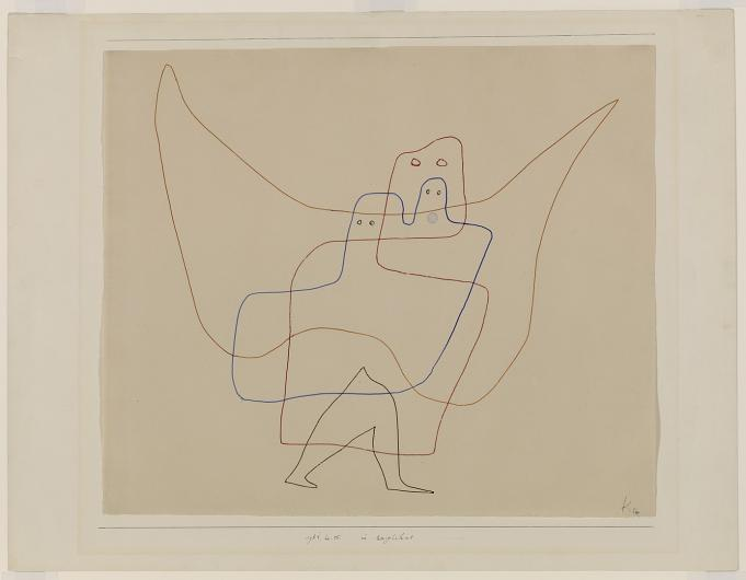 Paul Klee ink drawing of two outlines of figures
