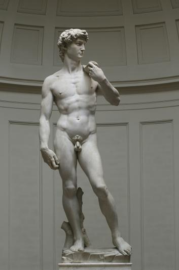 Michelangelo, David, 1501-1504. Marble. Florence, Galleria dell'Accademia.