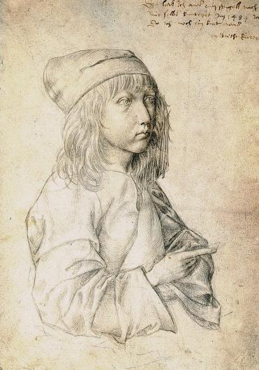Self Portrait at the age of 13, Albrecht Durer, Silverpoint, 1484