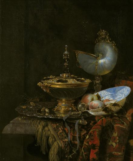 dutch still life with a nautilus shell