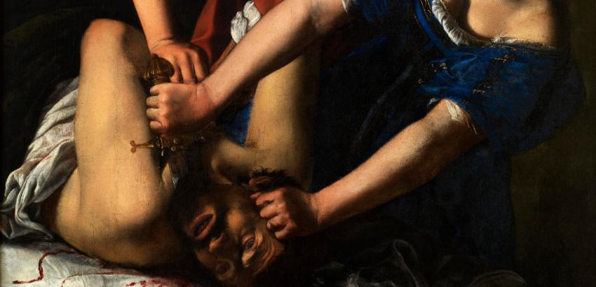 Artemisia Gentileschi, Judith and Holofernes, ca. 1612–17. Oil on canvas. Museo e Real Bosco di Capodimonte.